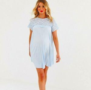 NWT ASOS design Maternity lace pleated mini dre